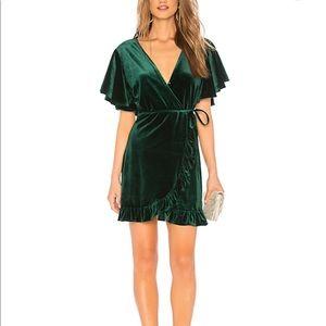 Green velvet BB Dakota dress